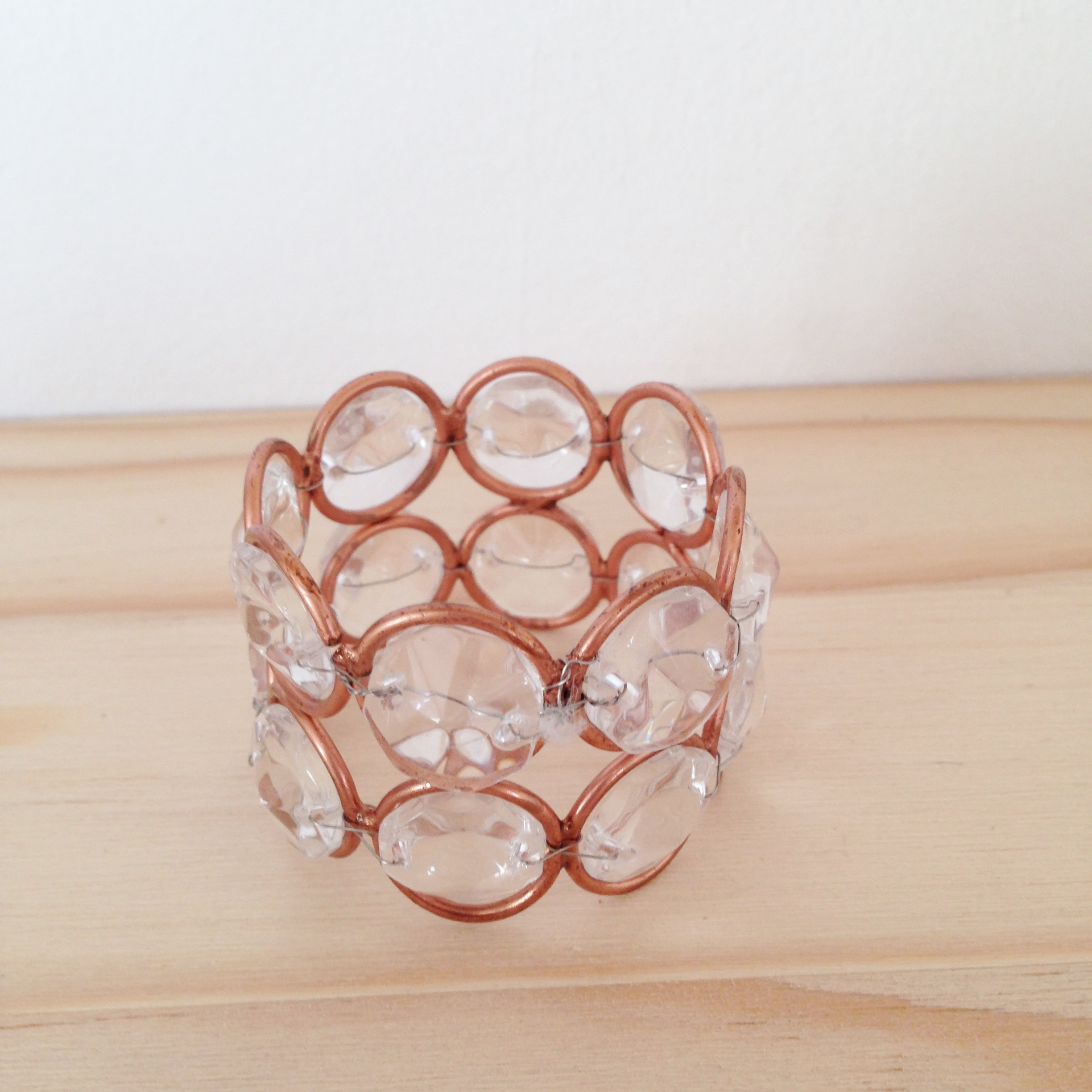 Rose Gold Bead Napkin Ring Desire2hire